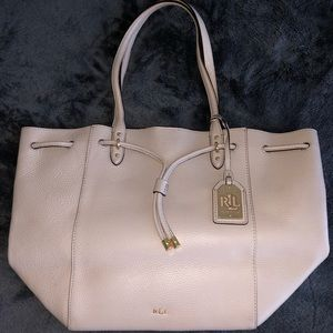 Muddy grey Lauren Ralph Lauren Vegan Leather Tote